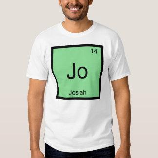 Josiah  Name Chemistry Element Periodic Table Tee Shirt