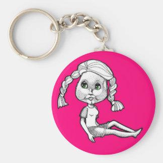 Josie: Beach Bum Basic Round Button Keychain