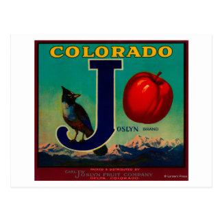 Joslyn Apple Crate Label Postcard