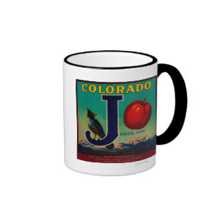 Joslyn Apple Crate Label Ringer Mug