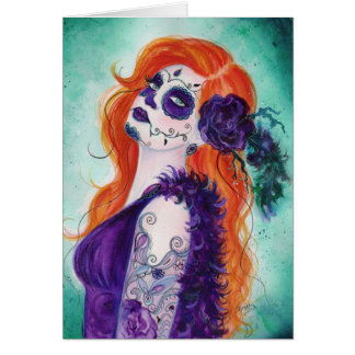 Joslyn Day of the Dead card By renee Lavoie