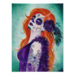 Joslyn Day of the dead poster print By Renee