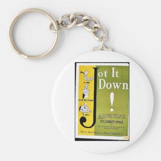 Jot It Down Key Chains