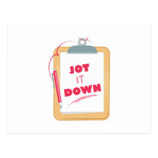 Jot It Down Postcard