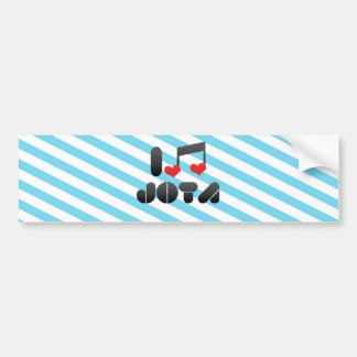 Jota fan bumper sticker