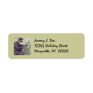 Jotting Letter On Beer Crate Return address Labels
