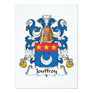 Jouffroy Family Crest 6.5x8.75 Paper Invitation Card