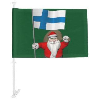 Joulupukki Visiting Finland Car Flag