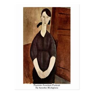 Jourdain-Retrato de Paulette de Amedeo Modigliani Tarjetas Postales