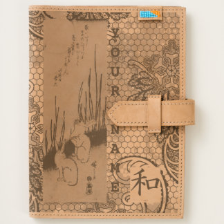 JOURNAL COVER LEATHER W/ RABBITS & MOON, CUSTOMIZE