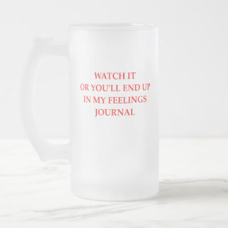 JOURNAL FROSTED GLASS BEER MUG