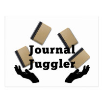 Journal Juggler Postcard
