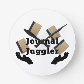 Journal Juggler Round Clock