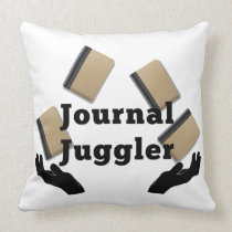 Journal Juggler Throw Pillow