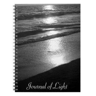 Journal of Light BW Ocean Sunset
