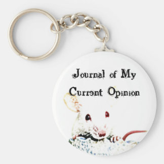 Journal of My Current Opinion Key Chain