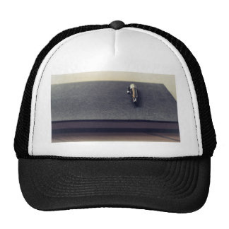 Journal Themed, A Fountain Pen Rests On A Black Bo Trucker Hat