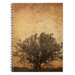 journal vintage tree sprial notebook