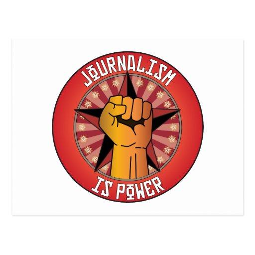 Journalism Is Power Postcard