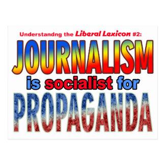 Journalism is Socialist for Propaganda Postcard