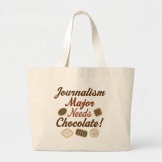 Journalism Major Chocolate Large Tote Bag