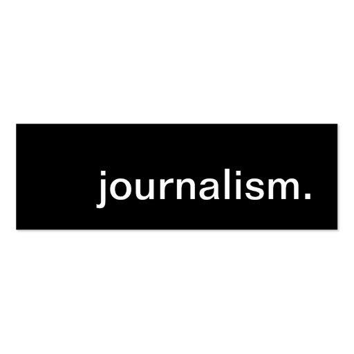 journalism mini business card