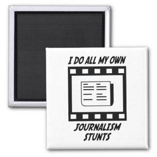 Journalism Stunts 2 Inch Square Magnet