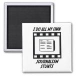Journalism Stunts Refrigerator Magnet