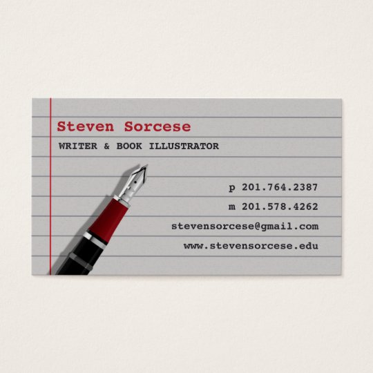 journalist author writer business card zazzle com