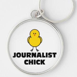 Journalist Chick Keychain