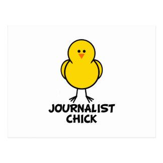 Journalist Chick Postcard