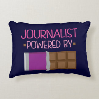 Journalist Chocolate Gift for Her Accent Pillow