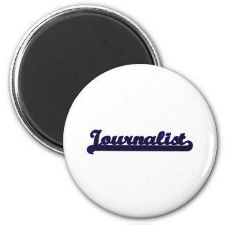 Journalist Classic Job Design 2 Inch Round Magnet