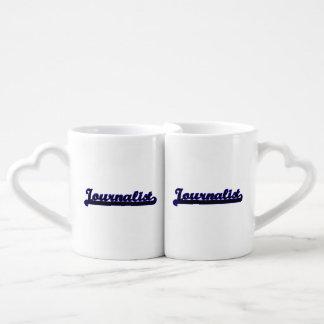 Journalist Classic Job Design Couples' Coffee Mug Set