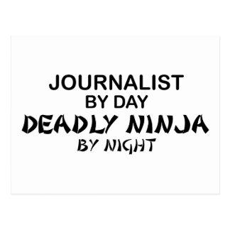 Journalist Deadly Ninja by Night Postcard