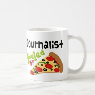 Journalist (Funny) Pizza Classic White Coffee Mug