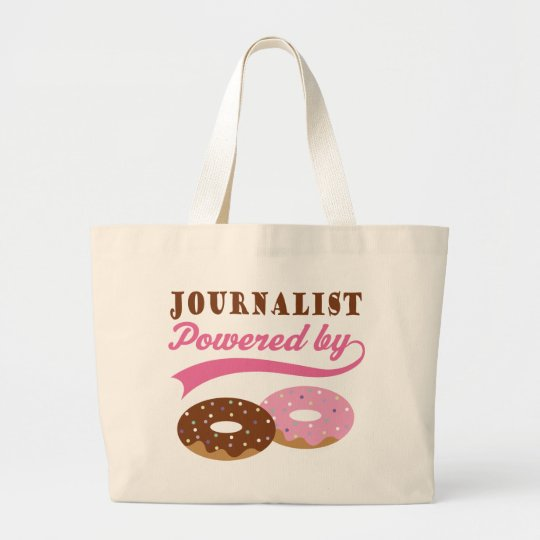 Journalist Gift (Donuts) Large Tote Bag
