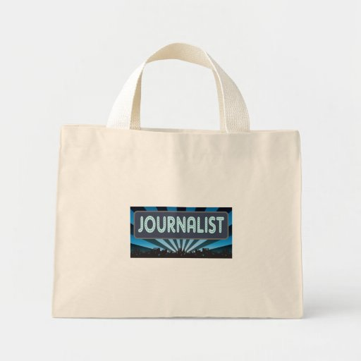 Journalist Marquee Tote Bags