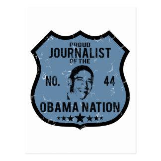 Journalist Obama Nation Postcard