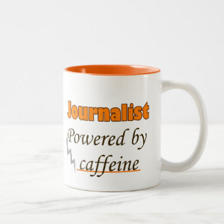 Journalist Powered by caffeine Two-Tone Coffee Mug