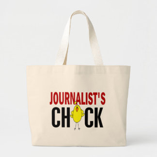 JOURNALIST'S CHICK LARGE TOTE BAG