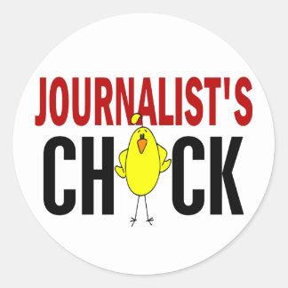 JOURNALIST'S CHICK ROUND STICKERS