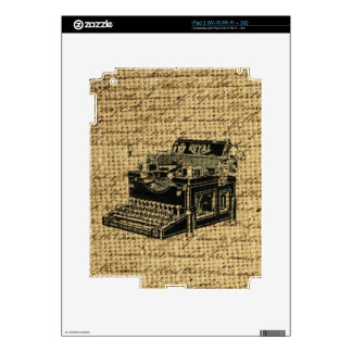 journalist scripts burlap antique typewriter decals for iPad 2