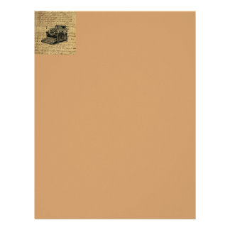 journalist scripts burlap antique typewriter letterhead