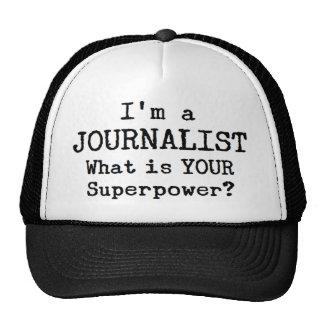 journalist trucker hat