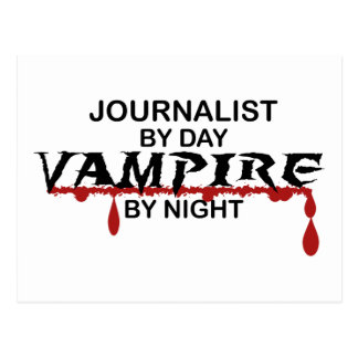 Journalist Vampire by Night Postcard