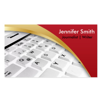 Journalist   Writer   Blogger  Reporter Double-Sided Standard Business Cards (Pack Of 100)