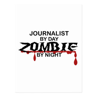 Journalist Zombie Postcard