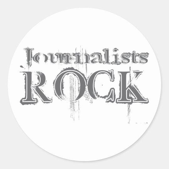 Journalists Rock Classic Round Sticker