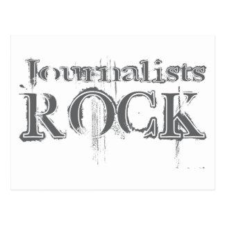 Journalists Rock Postcard